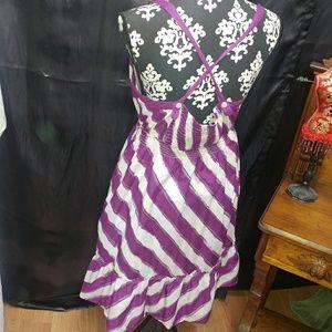 Aeo| strappy purple multi way 100% cotton sun dres